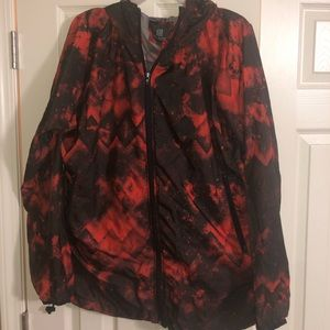 Red and Black windbreaker